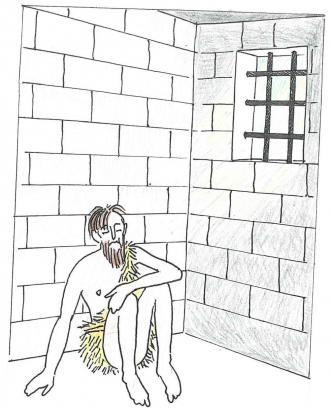 Im Gefängnis wurde Johannes traurig.