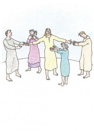 Jesus sagt: Ihr könnt das lebendige Brot essen