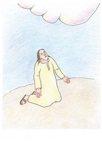 Jesus betet für alle Menschen zu Gott.