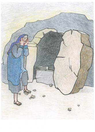 Maria von Magdala sucht Jesus