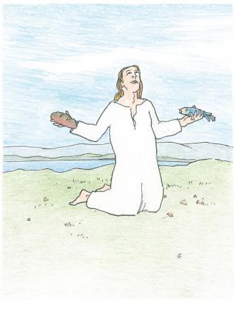 Bei Jesus werden viele Menschen satt.