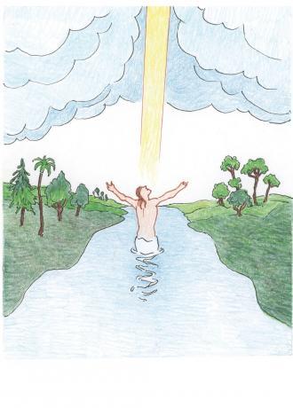 Die Kraft von Gott kam vom Himmel auf Jesus herab.