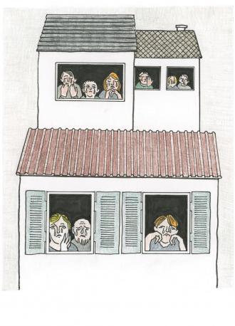 Zu Hause weinten alle Menschen.