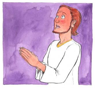 Jesus betet zu Gott