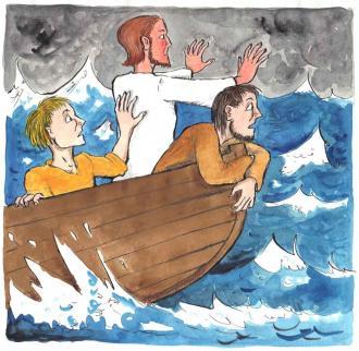 Ein heftiger Sturm tut, was Jesus sagt