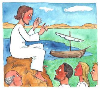 Alle Leute wollten in der Nähe von Jesus sein