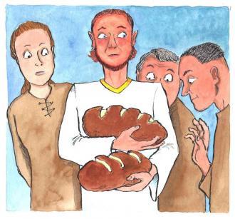 Jesus sagt: Ich bin das Brot für das richtige Leben