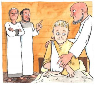 Jesus erklärt, dass die Jünger das Gute erlauben sollen