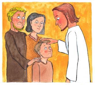 Jesus sagte: Alle Kinder dürfen zu mir kommen.