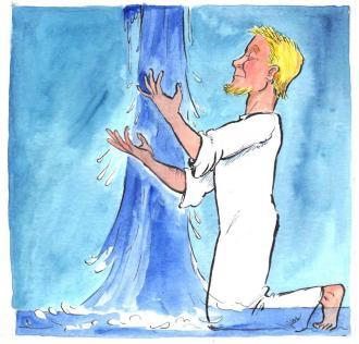 Jesus erzählt, dass der Heilige Geist wie Wasser strömt