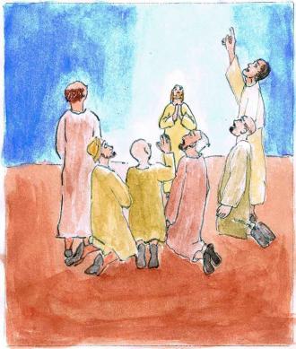 Jesus geht wieder zu Gott zurück