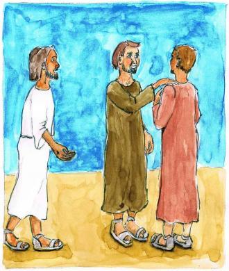 Jesus sagt zum Abschied tröstende Worte