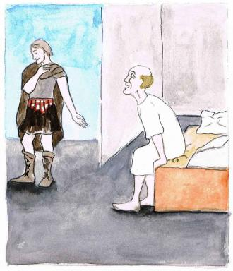 Der Haupt-Mann bittet Jesus für seinen kranken Diener.