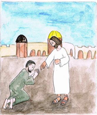 Der Mann dankte Jesus aus ganzem Herzen.