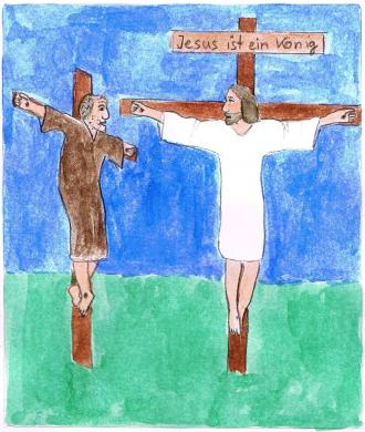 Jesus ist ein König der Herzen.